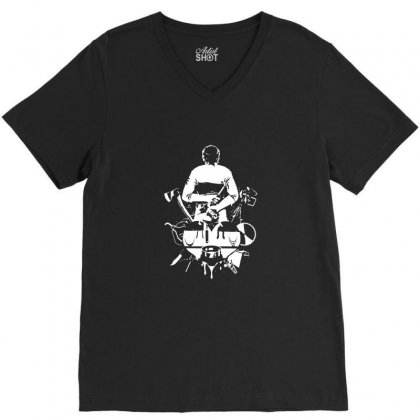 Murder Weapons Basement V-neck Tee Designed By Tee Shop