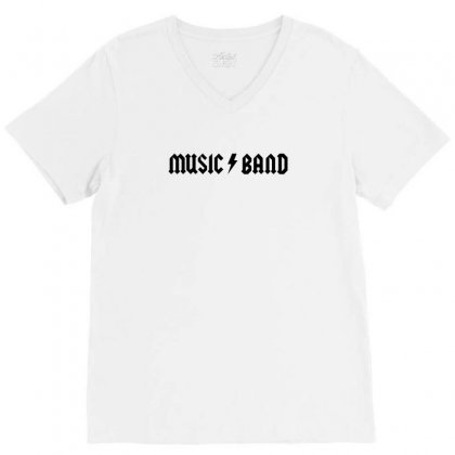 Music Band V-neck Tee Designed By Tee Shop