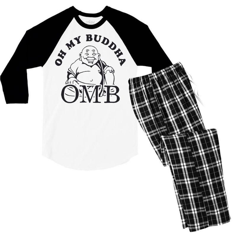 2970c415cf oh my buddha t shirt funny yoga t shirt saying vintage buddha shirt bu  Men's 3/4 Sleeve Pajama Set