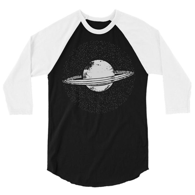 508befeba planet saturn t shirt solar system shirt geek t shirts science fiction 3/4  Sleeve Shirt