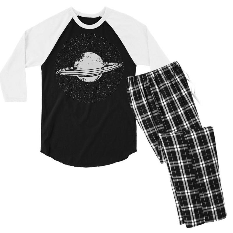 3218b5466 Custom Planet Saturn T Shirt Solar System Shirt Geek T Shirts Science  Fiction Men's 3/4 Sleeve Pajama Set By Tee Shop - Artistshot