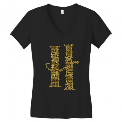 Potter Complette Spell Women's V-neck T-shirt Designed By Tee Shop