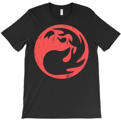 Red Mana Magic The Gathering Vintage T-shirt Designed By Tee Shop
