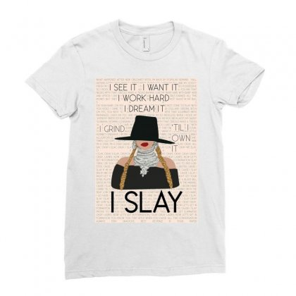 Slay Ladies Fitted T-shirt Designed By Pur