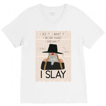 Slay V-neck Tee Designed By Pur