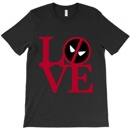 Love Deadpool For Dark T-shirt Designed By Nurbetulk
