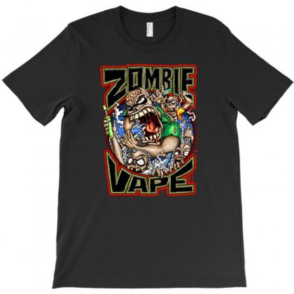 Zombie Vape T-shirt Designed By Mdk Art