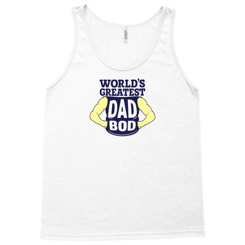 964ce568 Custom World's Greatest Dad Bod Tank Top By Mdk Art - Artistshot