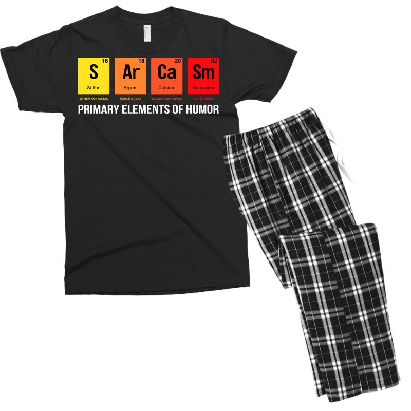 9cbaa168 science sarcasm s ar ca sm primary elements of humor Men's T-shirt Pajama  Set