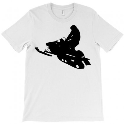 Snowmobile Silhouette T-shirt Designed By Tee Shop