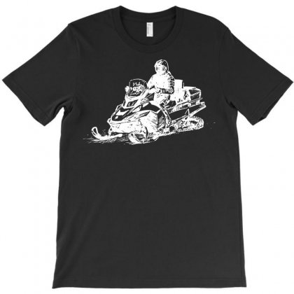 Snowmobile Sketch T-shirt Designed By Tee Shop