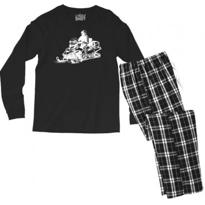 Snowmobile Sketch Men's Long Sleeve Pajama Set Designed By Tee Shop