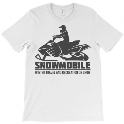 Snowmobile Winter Travel T-shirt Designed By Tee Shop