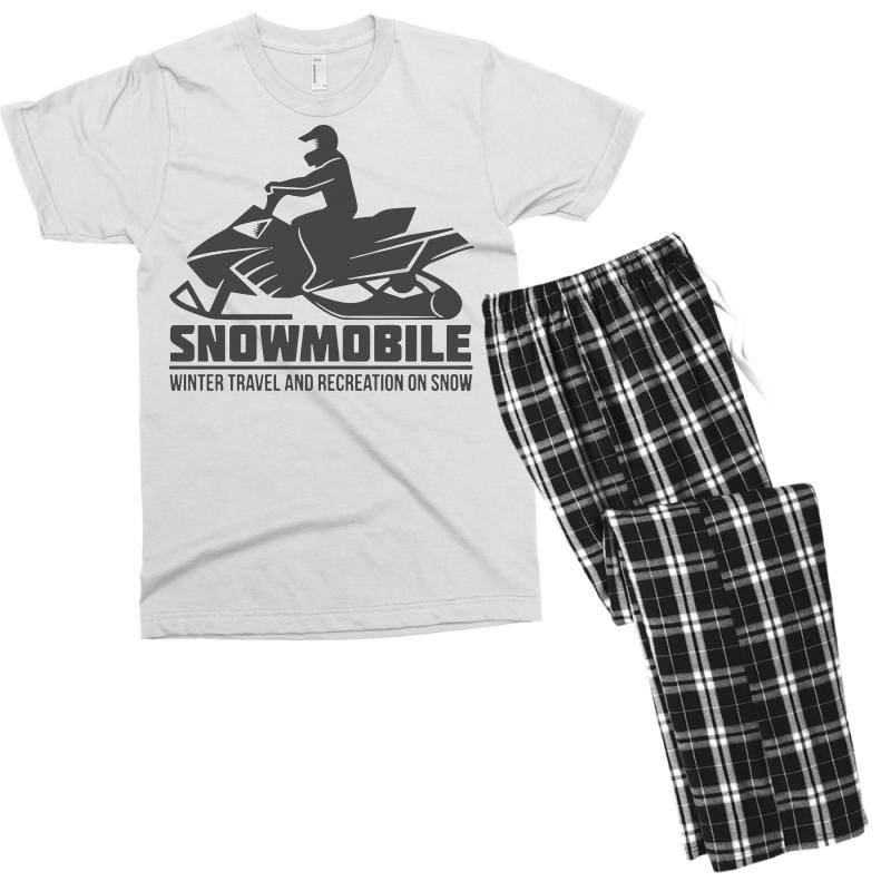 e1e20b916 Custom Snowmobile Winter Travel Men s T-shirt Pajama Set By Tee Shop ...