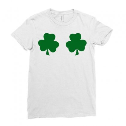 St Patricks Day Irish Paddys Funny Design Ireland Beer Shamrock Boobs Ladies Fitted T-shirt Designed By Tee Shop