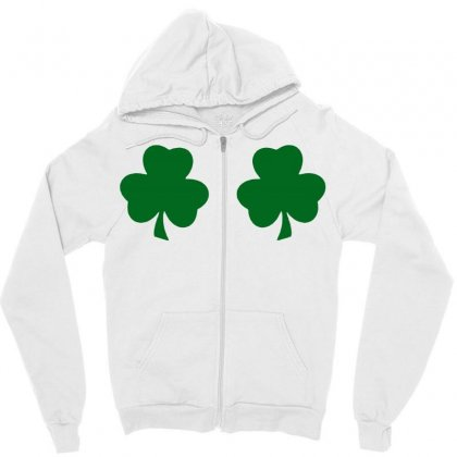 St Patricks Day Irish Paddys Funny Design Ireland Beer Shamrock Boobs Zipper Hoodie Designed By Tee Shop