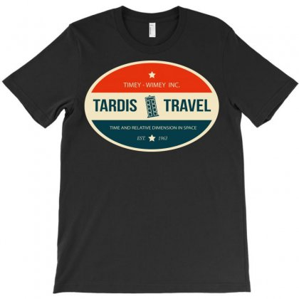 Tardis Travel T-shirt Designed By Tee Shop