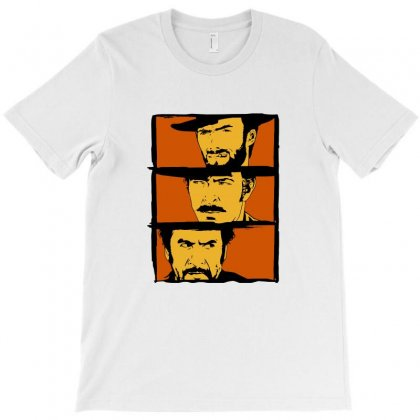 The Good The Bad And The Ugly Art T-shirt Designed By Tee Shop