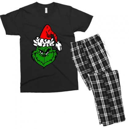 The Grinch Men's T-shirt Pajama Set Designed By Tee Shop