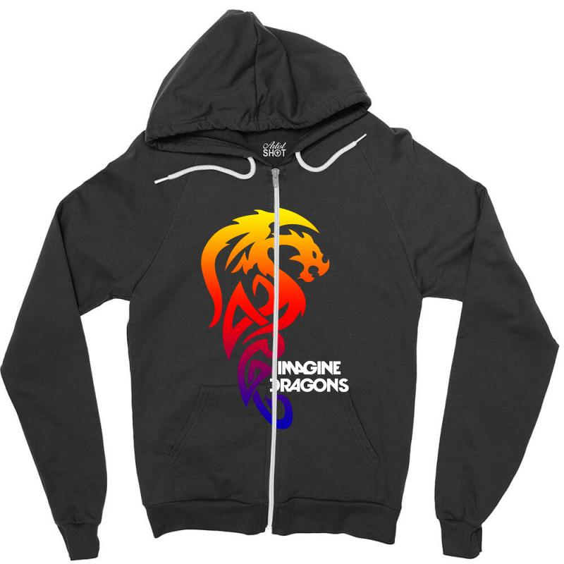 Imagine Dragons For Dark Zipper Hoodie | Artistshot