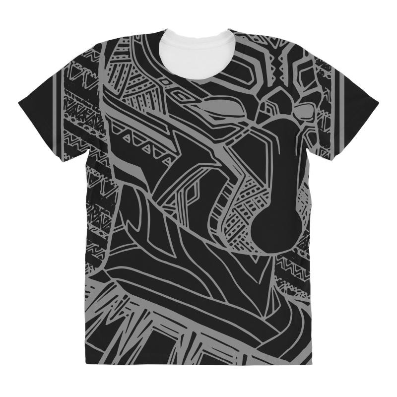 Custom The King Of Wakanda Black Panther All Over Women s T-shirt By ... 476821f7f