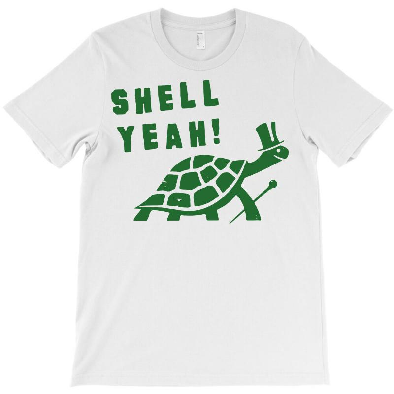 Shell Yeah T Shirt Turtle 80s Vintage Funny Cool Animal Tee 1