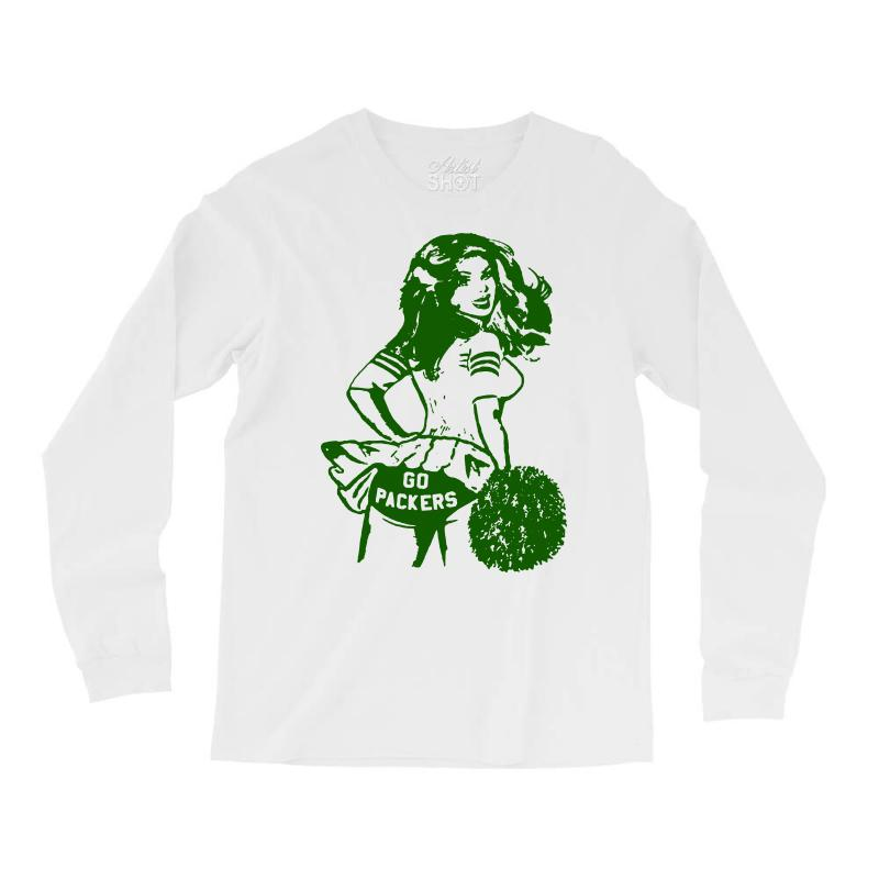 d01dd894 vintage green bay packers t shirt green bay packers shirt cheerleader Long  Sleeve Shirts
