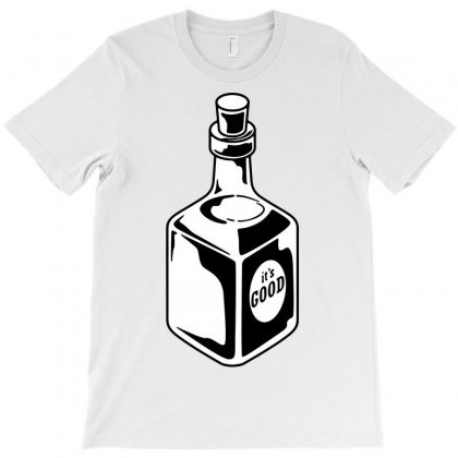 Whiskey Bottle T-shirt Designed By Tee Shop