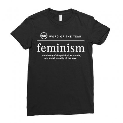 Word Of The Year 2019 Feminism Ladies Fitted T-shirt Designed By Tee Shop