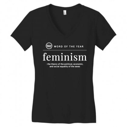 Word Of The Year 2019 Feminism Women's V-neck T-shirt Designed By Tee Shop