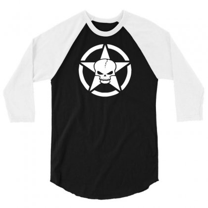 Army Skull 3/4 Sleeve Shirt Designed By N1s4
