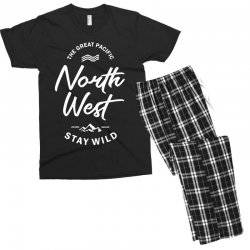 The Great Pacific North West Stay Wild Men's T-shirt Pajama Set | Artistshot