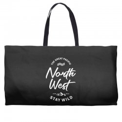The Great Pacific North West Stay Wild Weekender Totes | Artistshot