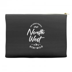 The Great Pacific North West Stay Wild Accessory Pouches | Artistshot
