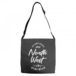 The Great Pacific North West Stay Wild Adjustable Strap Totes | Artistshot
