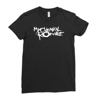 Chemical Romance Ladies Fitted T-shirt Designed By Mdk Art