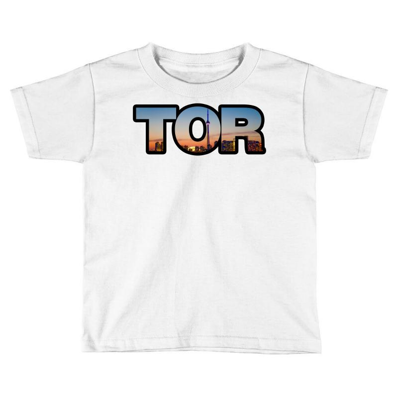 new style 8ad2d 015b3 Toronto Raptors Tor Skyline Toddler T-shirt. By Artistshot