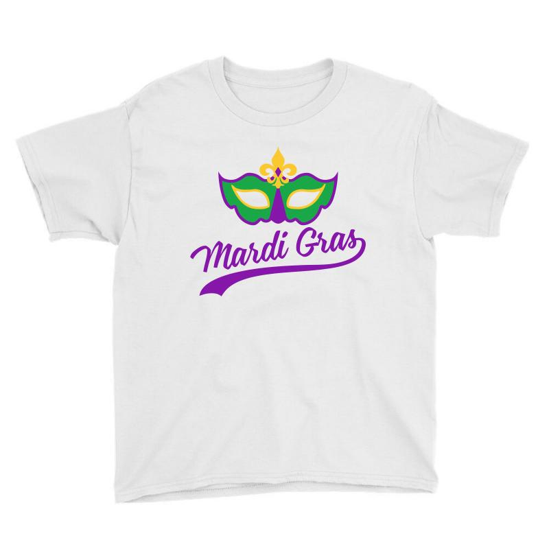 a48fc205fc2b9f Custom Mardi Gras Mask Youth Tee By Sengul - Artistshot