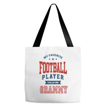 My Favorite Football Player Calls Me Grammy Tote Bags Designed By Ale C. Lopez