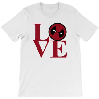 Love Deadpool T-shirt Designed By Sengul