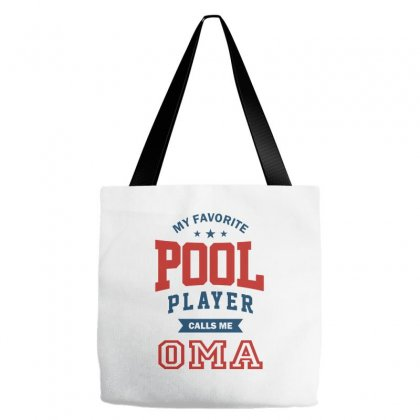My Favorite Pool Player Calls Me Oma Tote Bags Designed By Ale C. Lopez