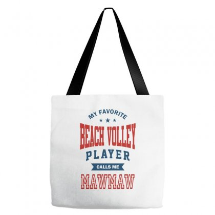 My Favorite Beach Volley Calls Me Mawmaw Tote Bags Designed By Ale C. Lopez