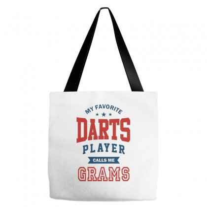 My Favorite Darts Player Calls Me Grams Tote Bags Designed By Ale C. Lopez