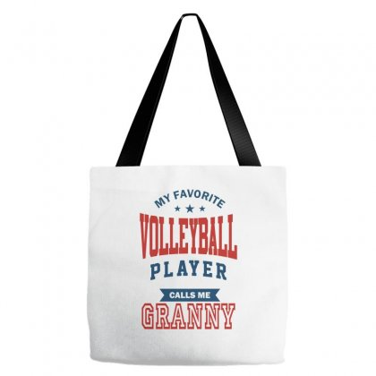 My Favorite Volleyball Player Calls Me Granny Tote Bags Designed By Ale C. Lopez