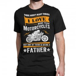 Motorcycles Father Classic T-shirt Designed By Tshiart