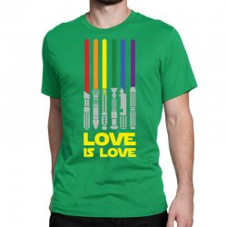 Lightsaber Rainbow - Love Is Love Classic T-shirt | Artistshot