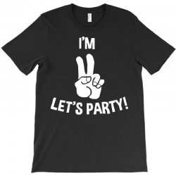 i'm two let's party T-Shirt | Artistshot