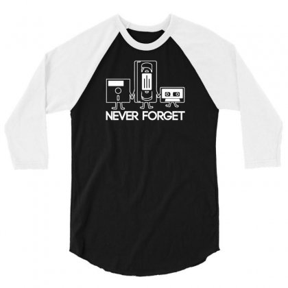 Forget Never 3/4 Sleeve Shirt Designed By Mdk Art