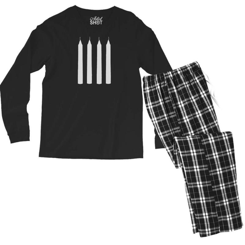 Four Candles Men's Long Sleeve Pajama Set | Artistshot