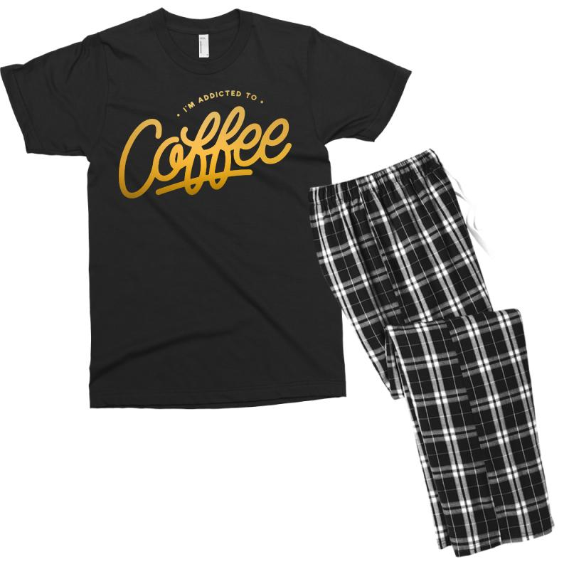 Addicted To Coffee Men's T-shirt Pajama Set | Artistshot